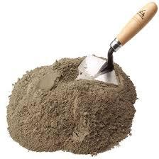 Mezclas de cemento, arena, y portland