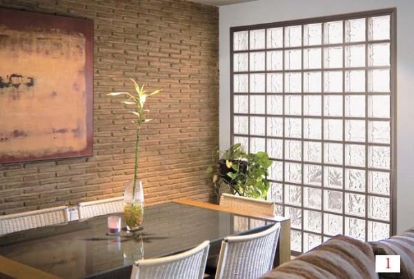 Como hacer una pared de ladrillos de vidrio alba iles - Ladrillos de cristal ...