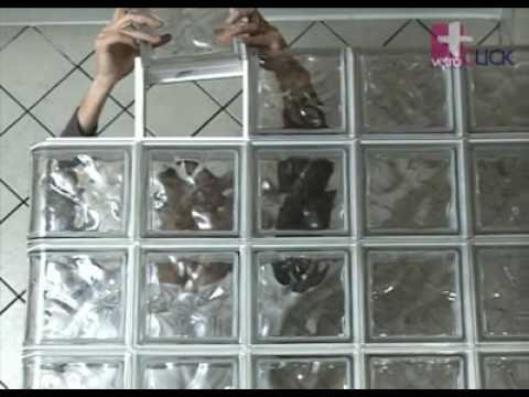 Como hacer una pared de ladrillos de vidrio alba iles - Ladrillo de cristal ...