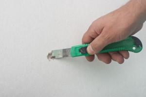 limpieza hueco pared de yeso