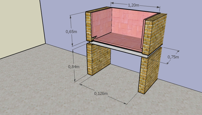 Como construir una parrilla de ladrillos alba iles - Como se hace una chimenea ...