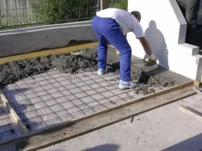 C mo construir una losa de cemento alba iles - Como hacer un piso de hormigon lustrado ...
