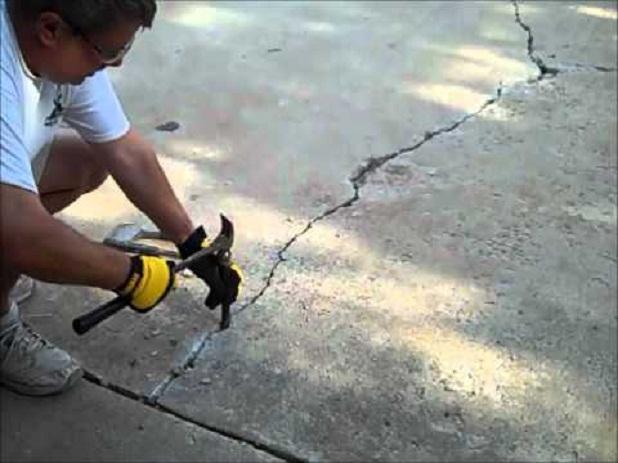 cómo reparar un piso de concreto resquebrajado | albañiles
