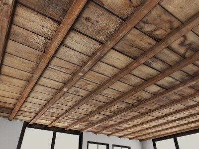 cielorraso madera viejo