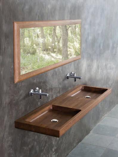 Muebles para ba os los sanitarios de madera alba iles for Lavabo madera