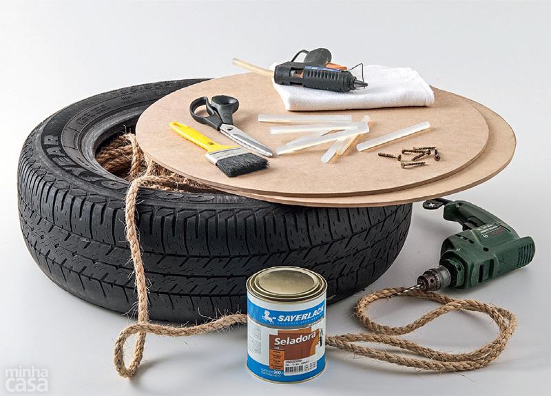 Cómo fabricar un puff a partir de un neumático reciclado