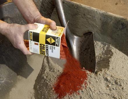 Pigmentos para cemento: Características y modo de uso