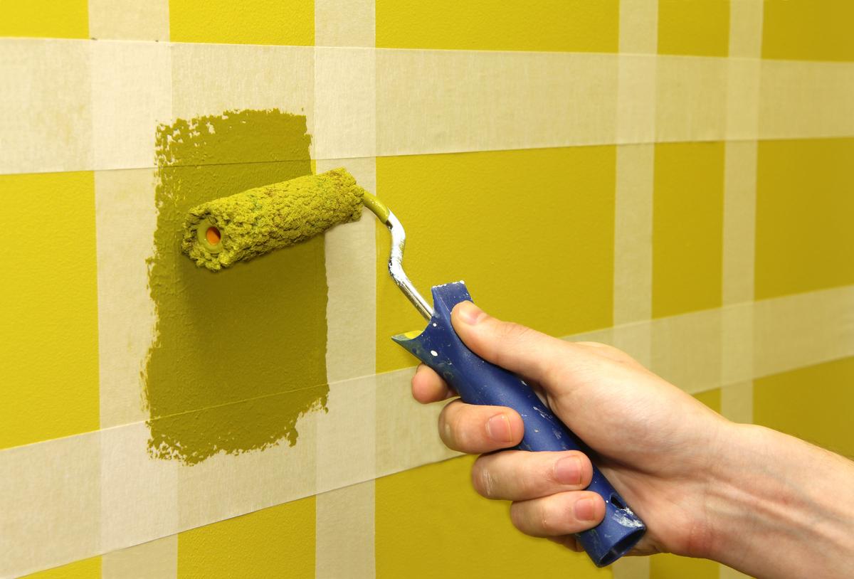 C mo pintar figuras geom tricas en la pared alba iles for Idea de pintura de corredor