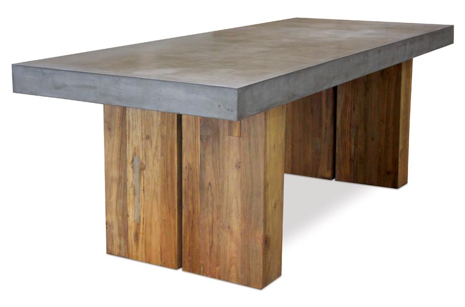 Cómo construir una mesa de cemento pulido