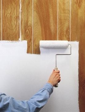 C mo pintar el revestimiento de madera de una pared - Imprimacion para paredes ...