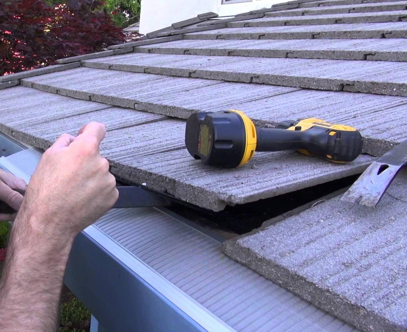 Cómo reemplazar tejas de hormigón dañadas