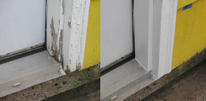 Como reparar madera dañada con masilla epóxica