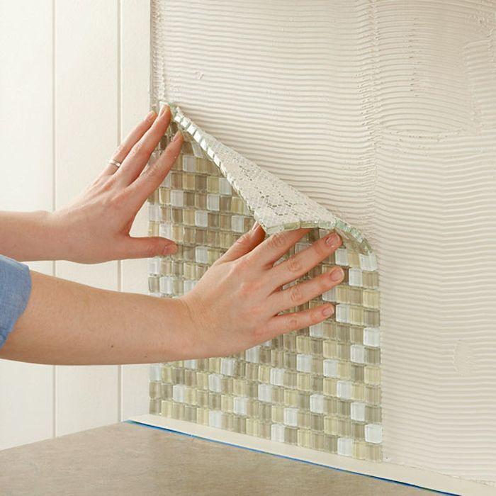 Cómo instalar un salpicadero de vidrio en la cocina | Albañiles