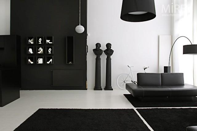 Ventajas de usar blanco y negro en la decoración de la casa