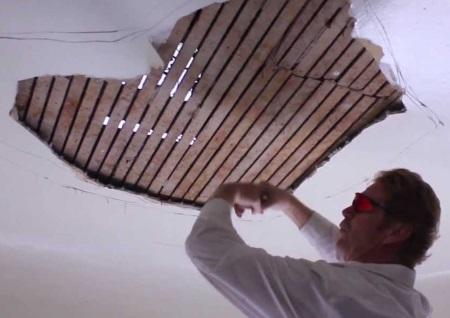 Cómo parchar un techo de yeso antiguo